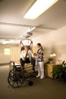 Plafondlift geschikt voor zwaarlijvige cliënten